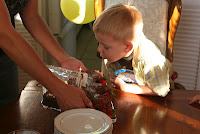birthday cake, candles, boy's birthday