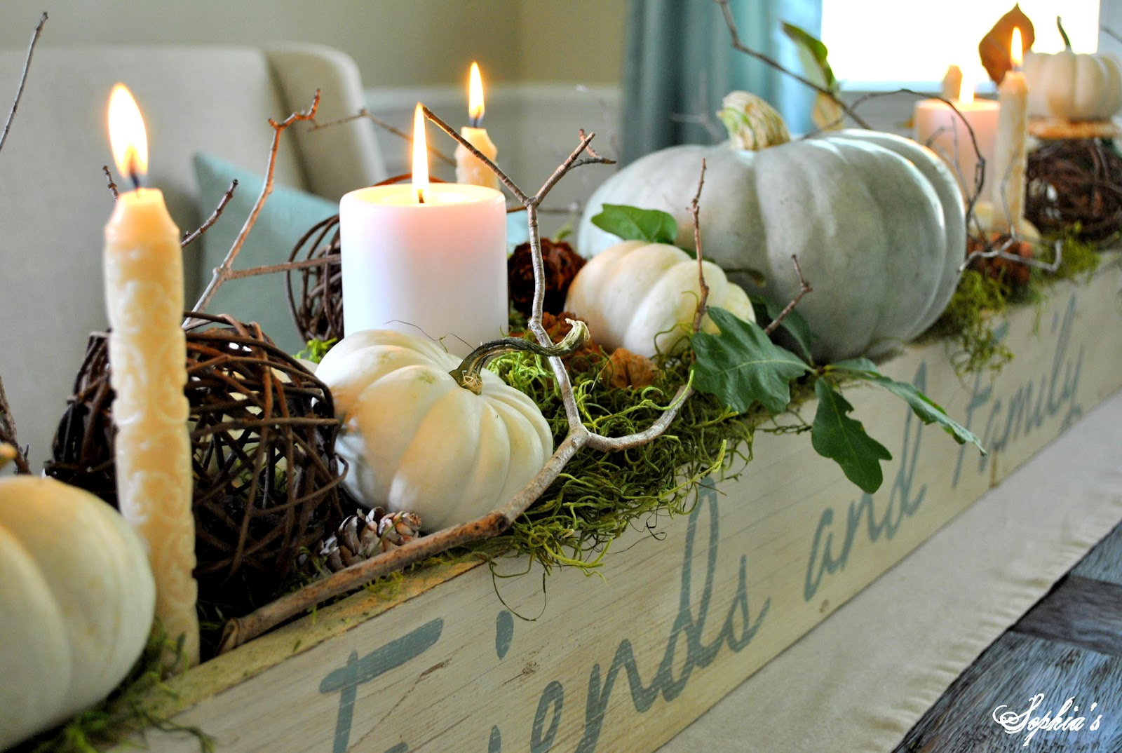 Fall Table Centerpiece Sophias Furniture And DIY Project Gallery