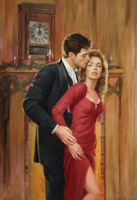 lady in red,merry christmas, cute couple