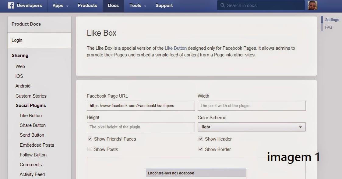 Gadget Facebook para Blogger  #2