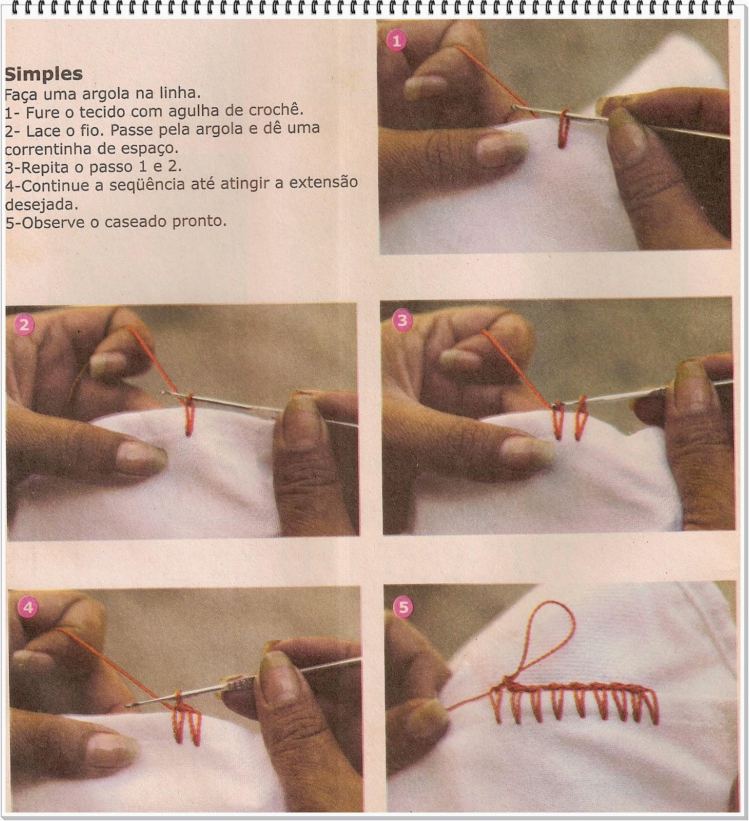 Conhecido CROCHE COM RECEITA: Caseados em crochê passo-a-passo para iniciantes DT17