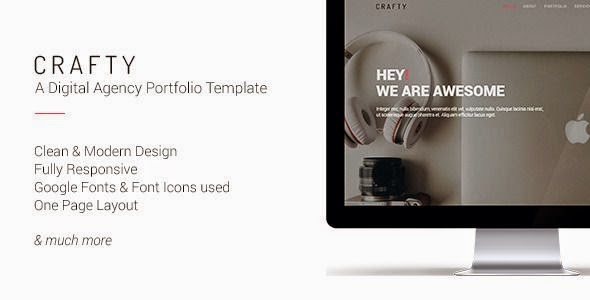 Crafty - One Page Digital Agency Template