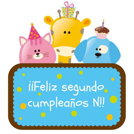 Feliz segundo cumpleaños