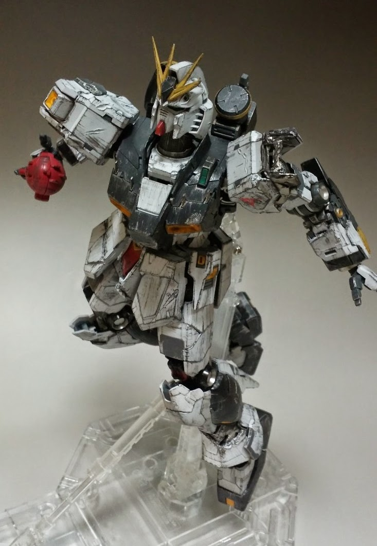 GUNDAM GUY: MG 1/100 Nu Gundam Ver. Ka vs. Sazabi Ver. Ka 'Final ...