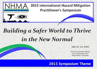 graphic for international hazard mitigation practioners sympsium