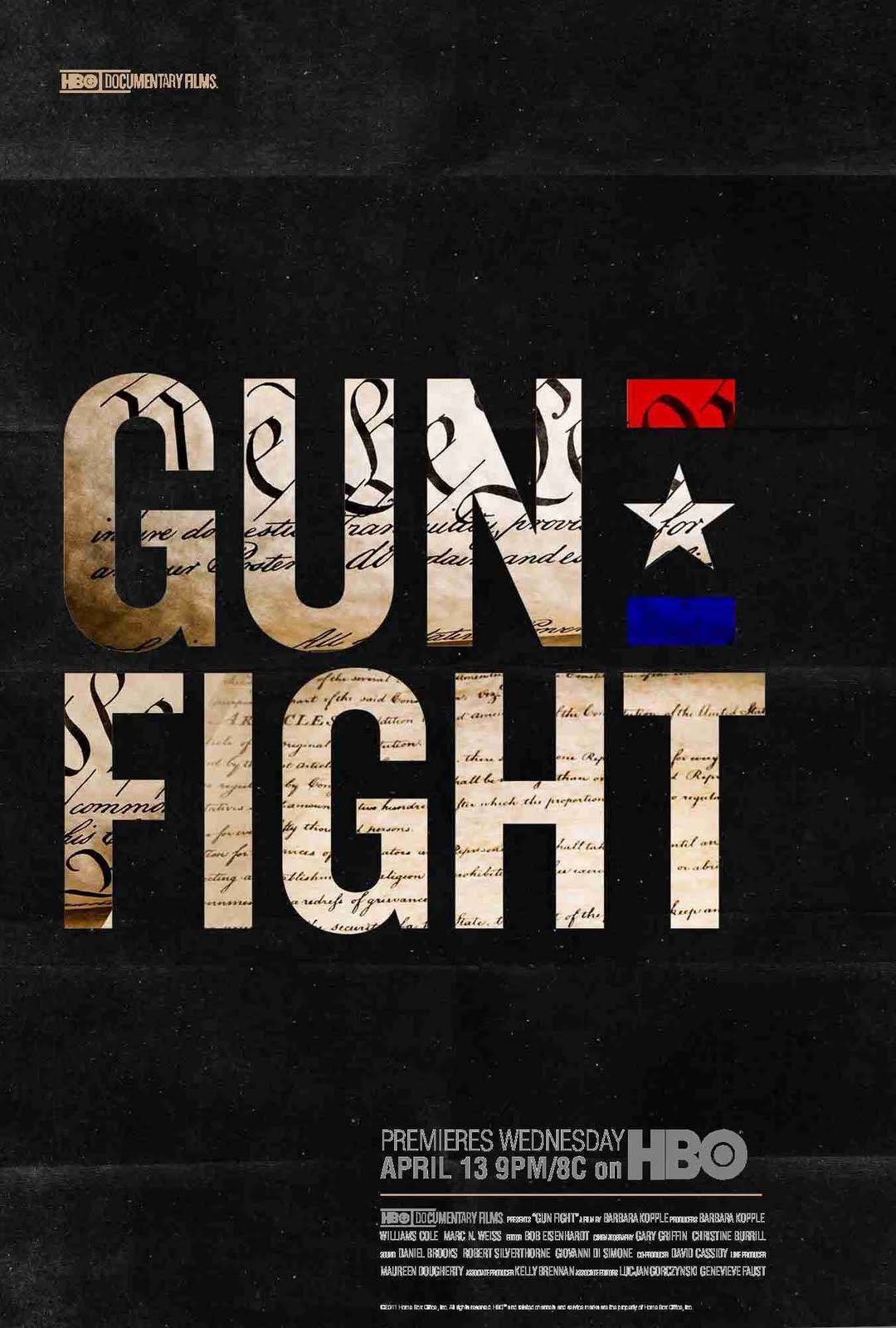 essay on the documentary gun fight Find a+ essays, research papers, book notes, course notes and writing tips millions of students use studymode to jumpstart their assignments.