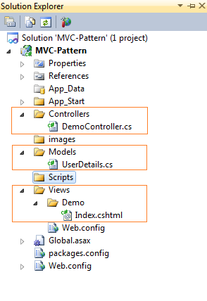 mvc pattern example, mvc project, mvc development, mvc application
