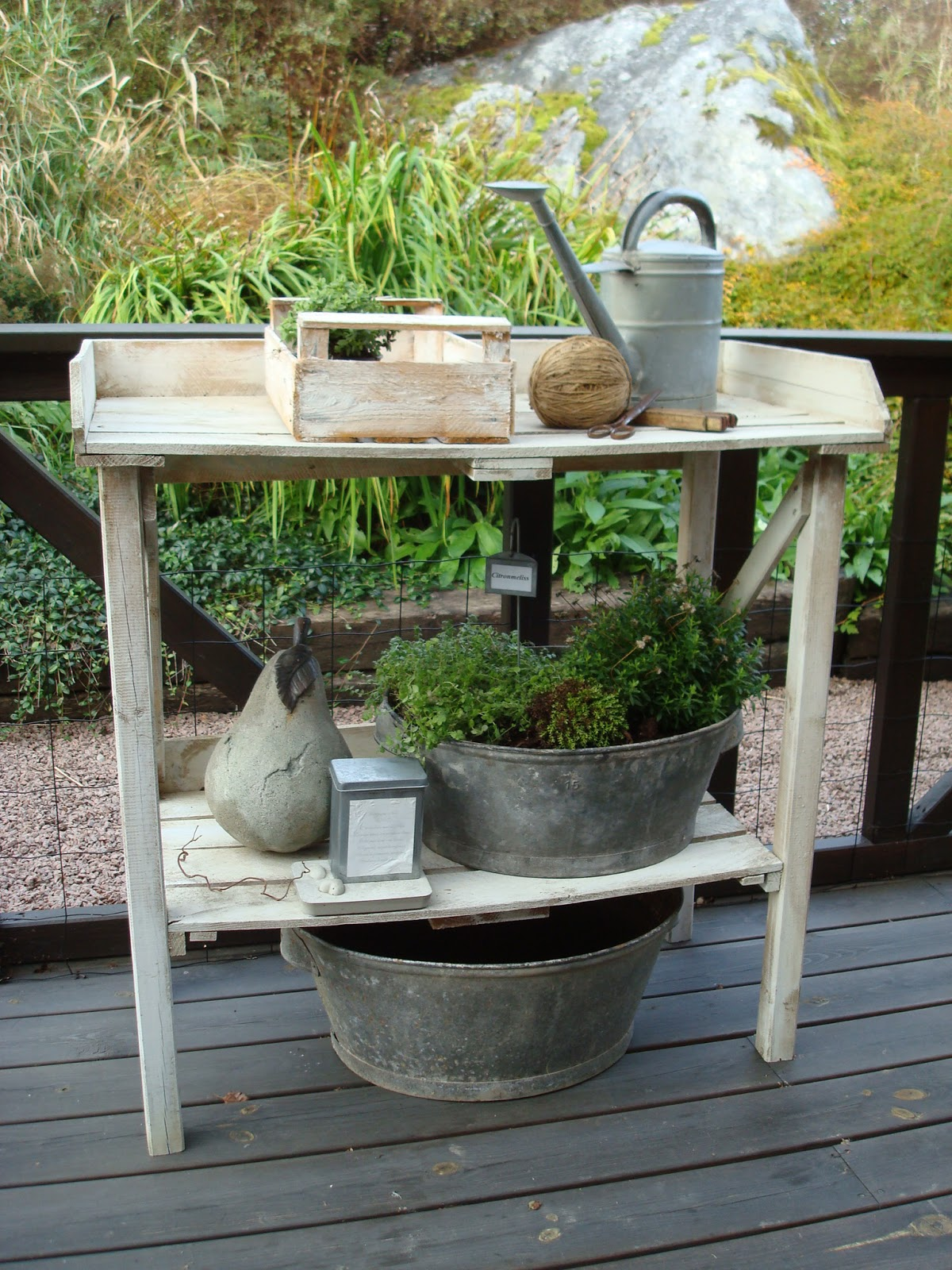 Vit hortensia: oktober 2012