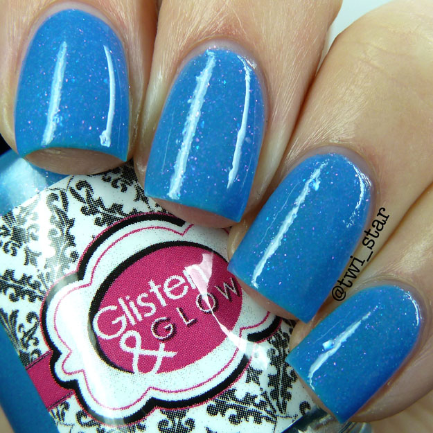 Glisten and Glow Saber This A Box Indied blue glow in the dark polish