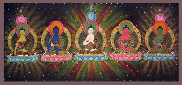 Los 5 budas de la meditación