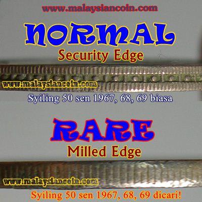 50 sen milled edge