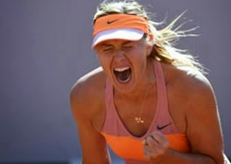 Maria Sharapova tennis players wins the final