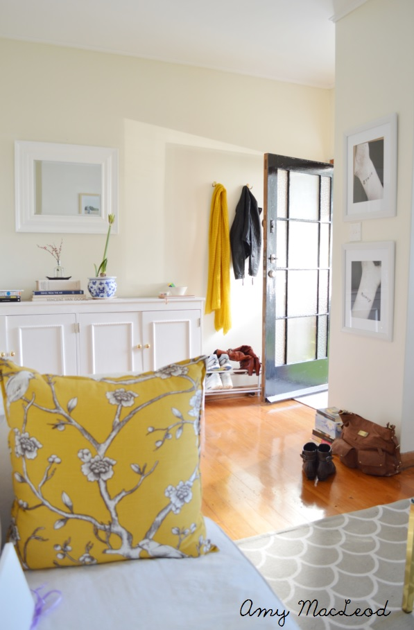 Amy MacLeod living room - mustard, black, autumn