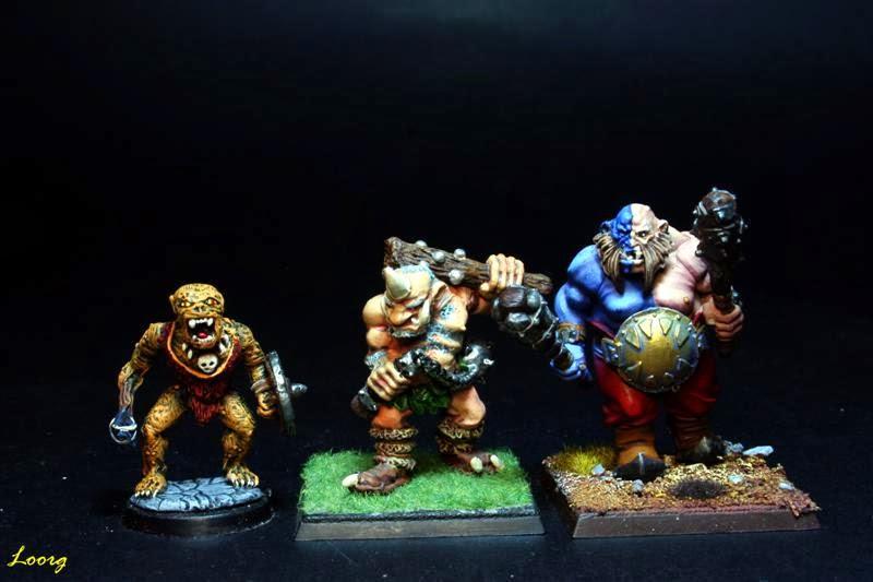Tamaño de las tres generaciones de ogros