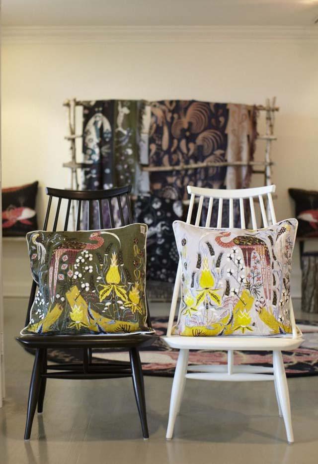 sillas vintage antiguas de los 50s madmoiselle lounge chair con cojines
