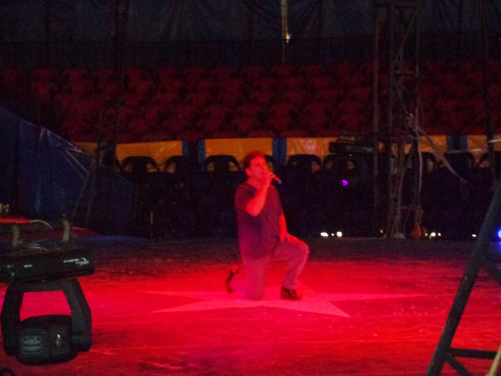 Aparição de Marcos Frota ao final do espetáculo.