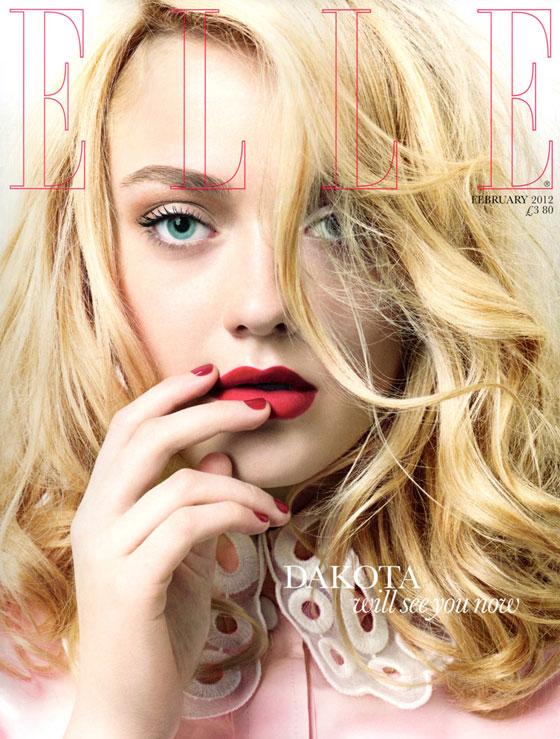 Dakota Fanning para Elle UK febrero 2012