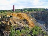 Zona de explotación minera de la gran montaña de cobre de Falun