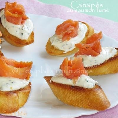Les plats roumaines id es d 39 amuse bouches en ap ritif for Canape au saumon