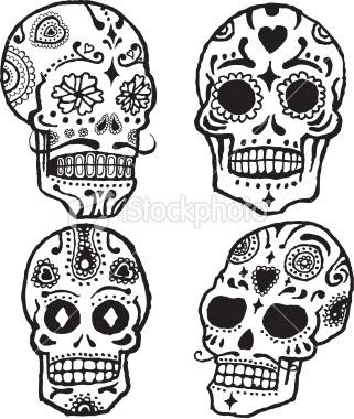 Imagenes para colorear: Calaveritas de el dia de muertos para colorear