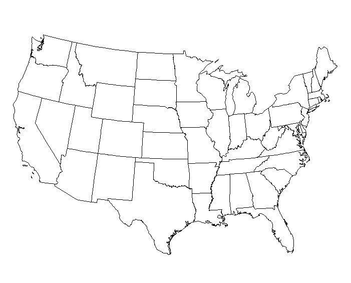 Maps Of Us Blank Globalinterco - Large printable us maps with states labeled