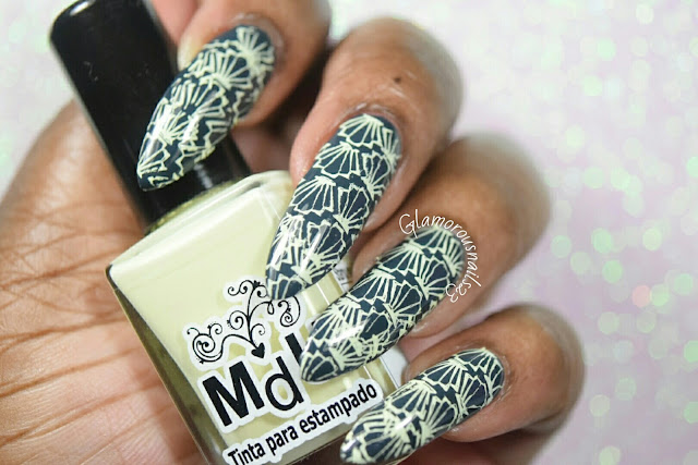 Sea Shells Stamping Nail Art