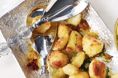 Parmesan-crusted roast potatoes Recipe