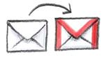 Illustration Wechsel zu Google Mail