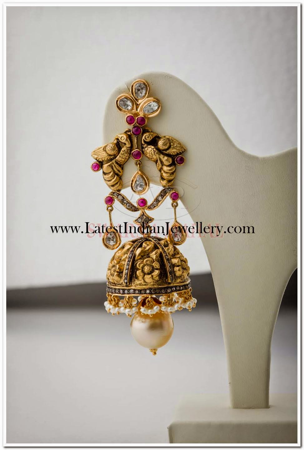 Ethnic Design Gold Earrings