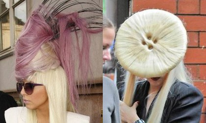 model rambut lady gaga