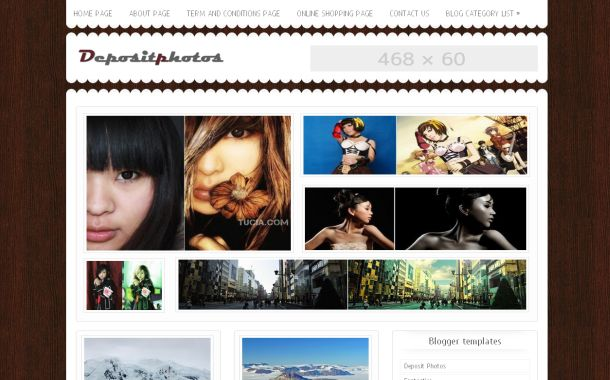Free Gallery Jquery Blog Blogger Layout Template