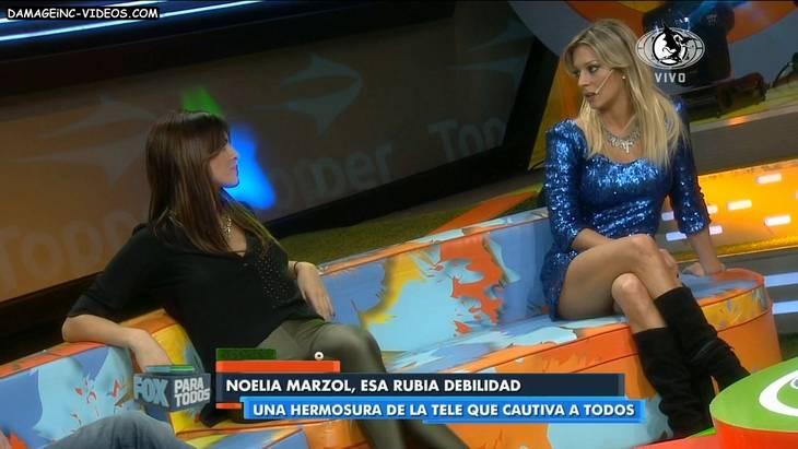 Argentina Model Noelia Marzol hot legs in miniskirt HD video