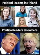 Political Leaders: Finland vs. USA / GB