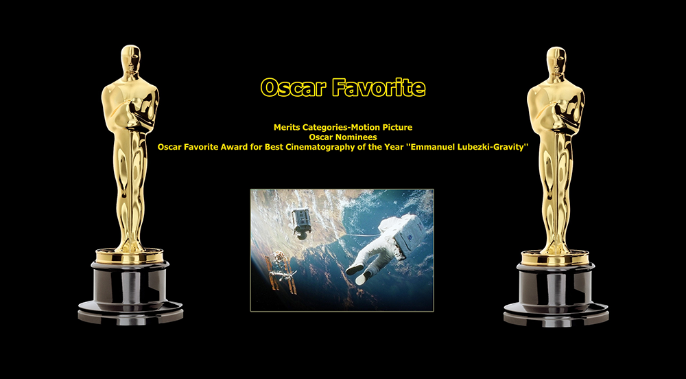 oscar favorite best cinematography award emmanuel lubezki gravity