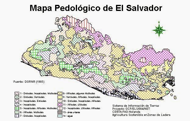 Map Of El Salvador Daniel Chavarria Tropical Ecology