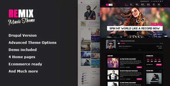 Best Multipurpose Music and Entertainment Template 2015