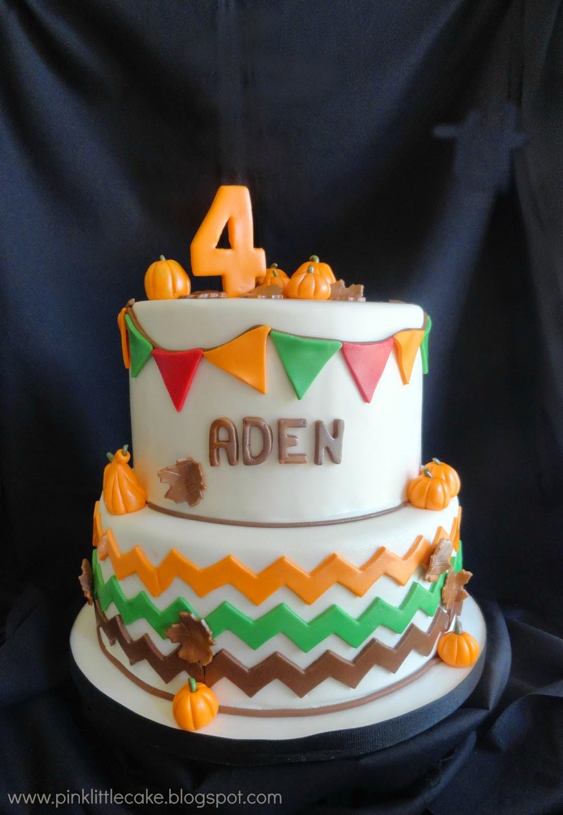 My Pink Little Cake Pumpkin Patch Birthday Cake
