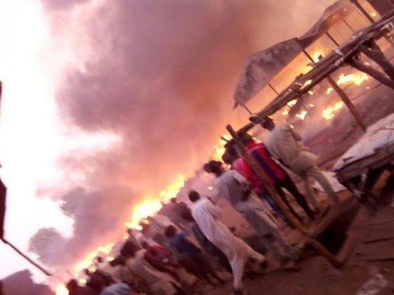 Photos From Yola Main Market Fire