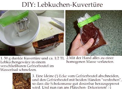 Kathrins blog ingwer pl tzchen mit lebkuchen schoki glasur - Platzchen dekorieren ...