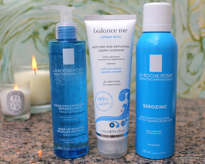 one little vice beauty blog: la roche posay and balance me gentle cleansing products