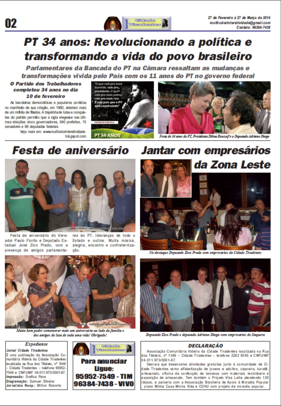 Jornal Cidade Tiradentes nº 52