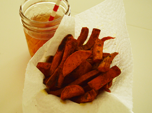 paprika flavoured sweet potato fries