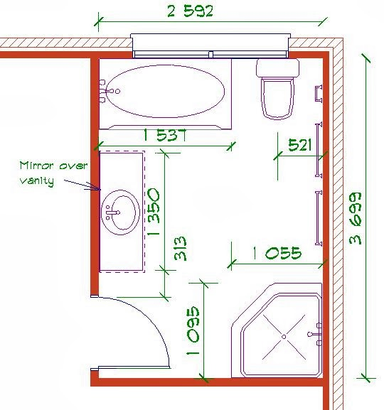 Bathroom layout design tool for Bathroom layout design