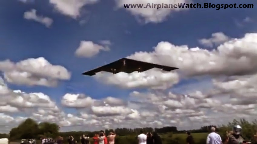 B-2 Spirit Stealth Strategic Bombers Death 11 and Death 12 509th Bomb Wing arrive to RAF Fairford UK Crowd of People