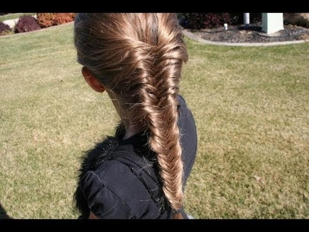 Hairstyles For Long Hair Cgh : Cute Girls Hairstyles Fishtail French Braid
