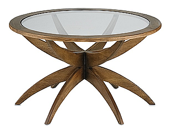 coffee tables in wood and glass