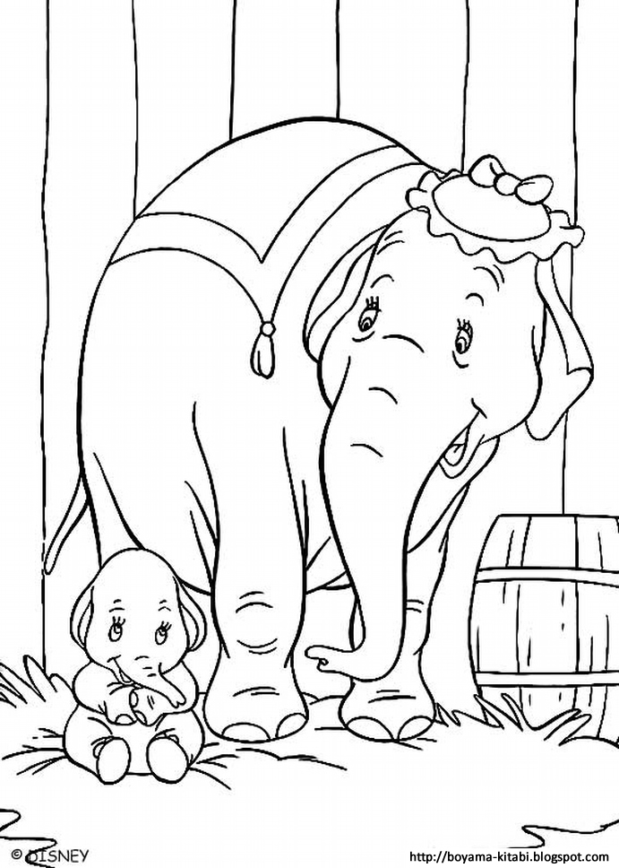Dumbo Coloring 01 | The Coloring Pages - The Coloring Book ...