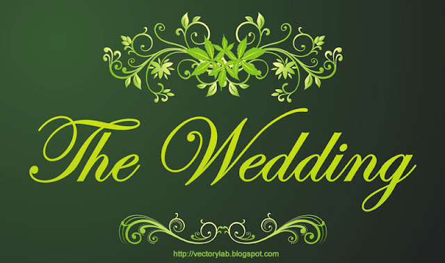 Dark Green Floral and Swirl for Wedding Design