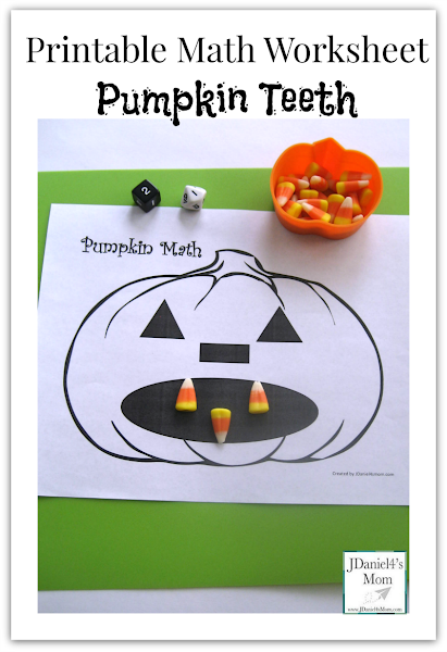 Pumpkin Teeth Printable Worksheet Math