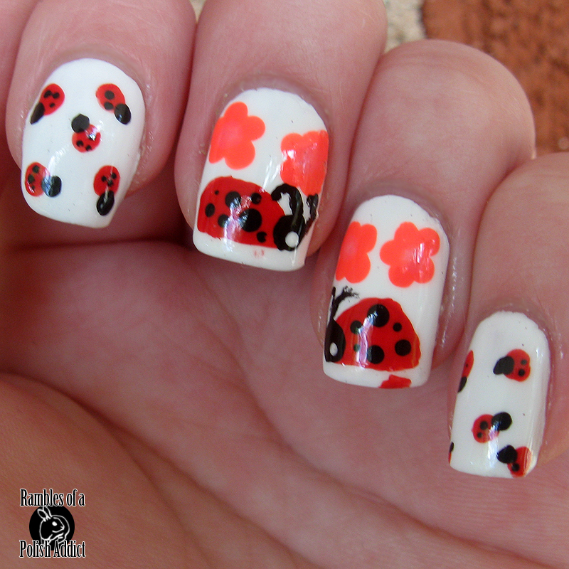 la-colors-pink-bubbles-hottie-sinful-colors-snow-me-white-lady-bug-nail-art